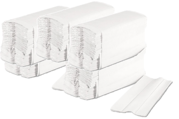 c fold white paper hand towels